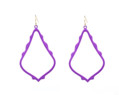 Casey Cutout Earring Purple
