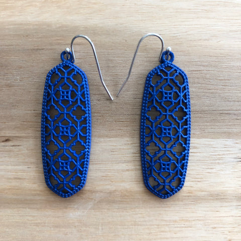 Blue Cutout Earrings