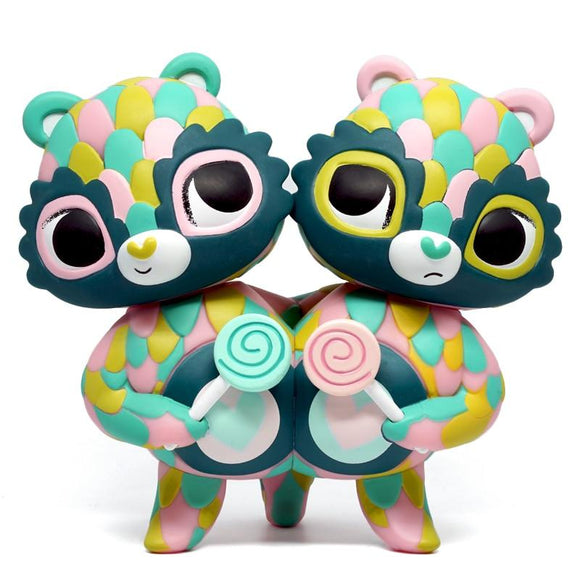 Care Bears Share Bear Green Art Figure by Jordan Elise Perme