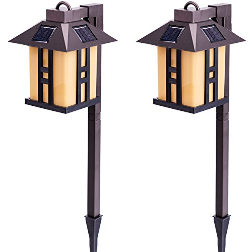 Solar Powered Path Lights, Solar Garden Lights Outdoor - AsitiGift