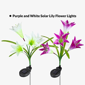 Multi-Color Changing LED Solar Stake Lights for Garden - AsitiGift