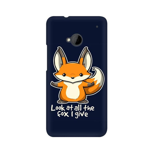 Fox Given Multicolour Phone Case For HTC One M7