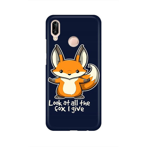 Fox Given Multicolour Phone Case For Huawei P20 Lite