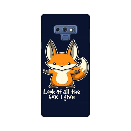 Fox Given Multicolour Case For  Samsung Note 9