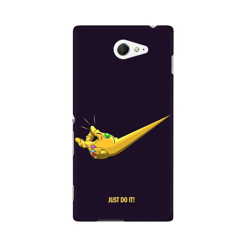 Just Do It Multicolour Case For Sony Xperia M2 S50h