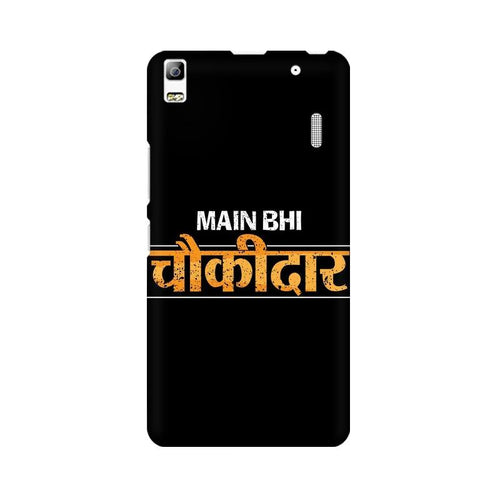 Main Bhi Chowkidar Multicolour Phone Case For Lenovo K3 Note