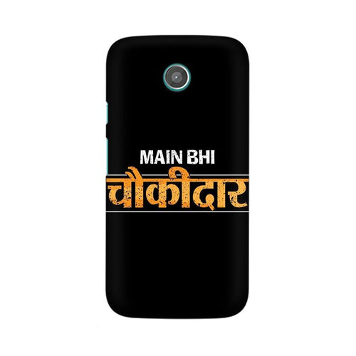 Main Bhi Chowkidar Multicolour Phone Case For Moto G