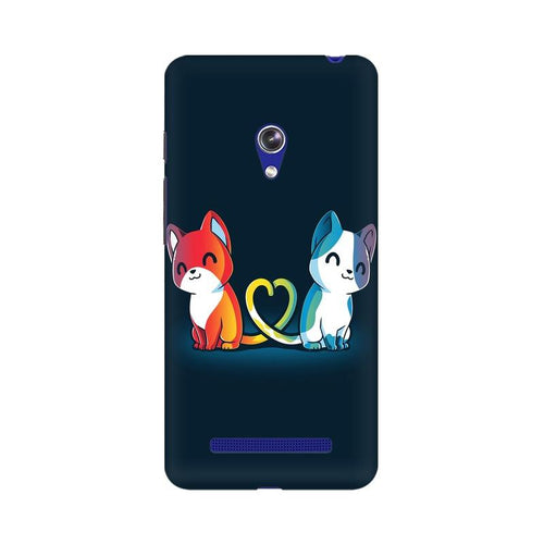 Purrfect Match Multicolour Phone Case For Asus Zenfone Go