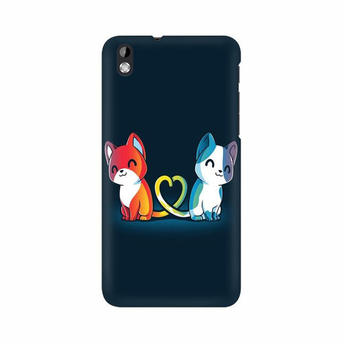 Purrfect Match Multicolour Phone Case For HTC Desire 816