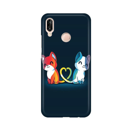 Purrfect Match Multicolour Phone Case For Huawei P20 Lite