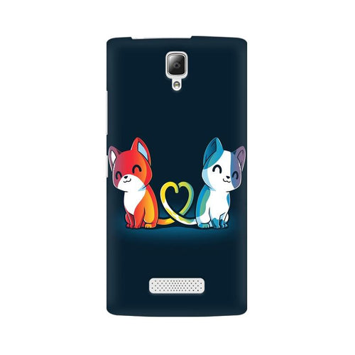 Purrfect Match Multicolour Phone Case For Lenovo A2010