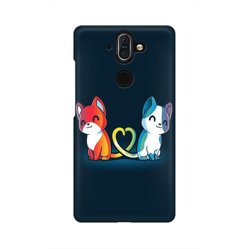 Purrfect Match Multicolour Case For Nokia 8 Sirocco