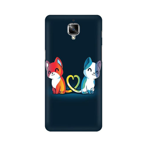 Purrfect Match Multicolour Case For OnePlus 3T