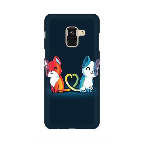 Purrfect Match Multicolour Case For  Samsung A8 (2018)