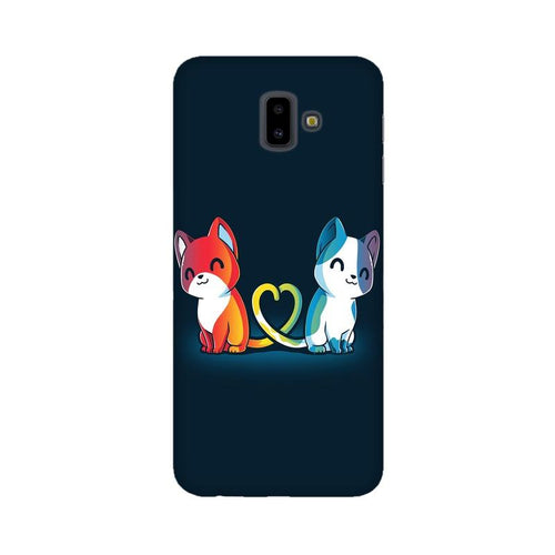 Purrfect Match Multicolour Case For  Samsung J6 Plus