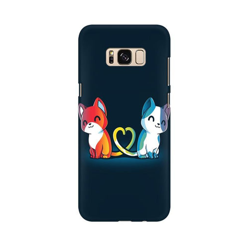 Purrfect Match Multicolour Case For  Samsung S8 Plus