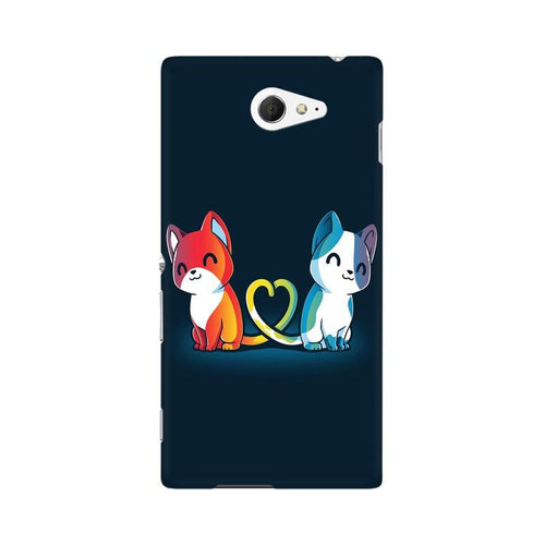 Purrfect Match Multicolour Case For Sony Xperia M2 S50h