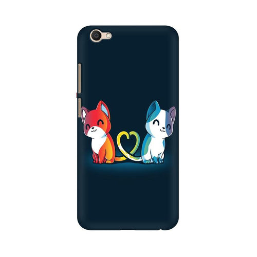 Purrfect Match Multicolour Case For Vivo V5 Plus