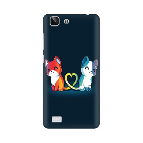 Purrfect Match Multicolour Case For Vivo X5