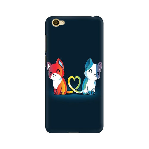 Purrfect Match Multicolour Case For Vivo Y66