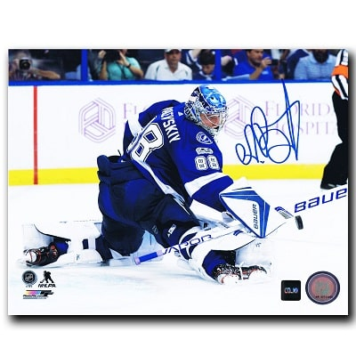 Andrei Vasilevskiy Tampa Bay Lightning Autographed 8x10 Photo