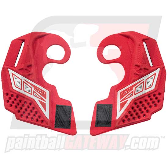 Empire EVS Goggle Ear Piece Set - Custom Red/White - (#3H35)