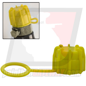 Rufus Dawg Rubber Tank Thread Protector Cap - Yellow - (#3M16)