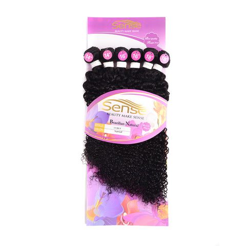 Brazilian 6pc Kinky Curl Hair Bundles With Closure