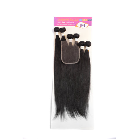 100% Peruvian Remy Straight Hair 7pc