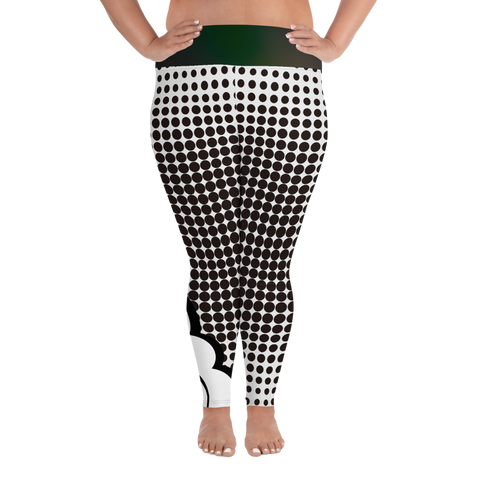Cartoon Cloud All-Over Print Plus Size Leggings