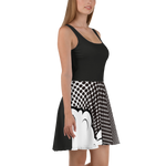 Black Cartoon - Skater Dress