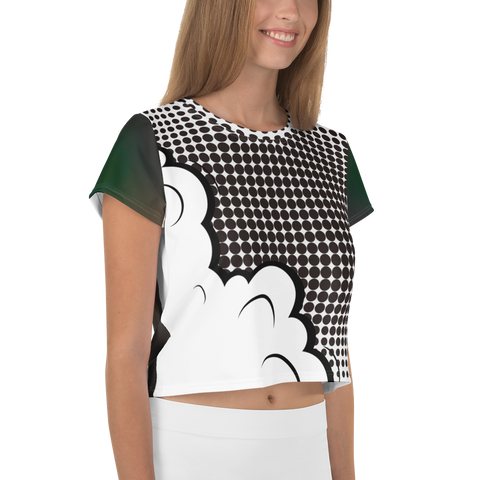 Dark Cartoon Cloud - All-Over Print Crop Tee