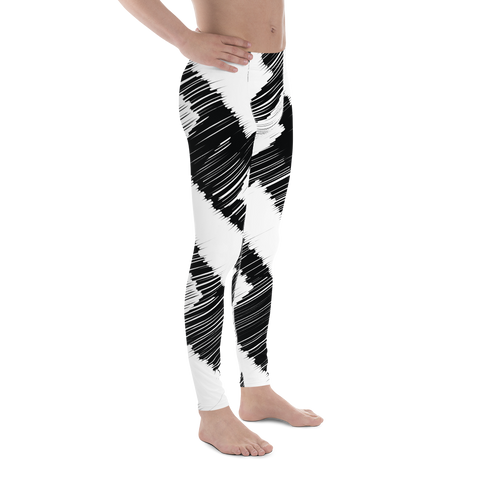 Black and White Men's Leggings