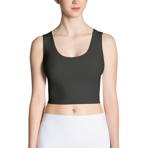 Black Sublimation Cut & Sew Crop Top