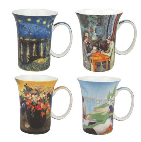 POST IMPRESSIONISTS SET OF 4 MUGS