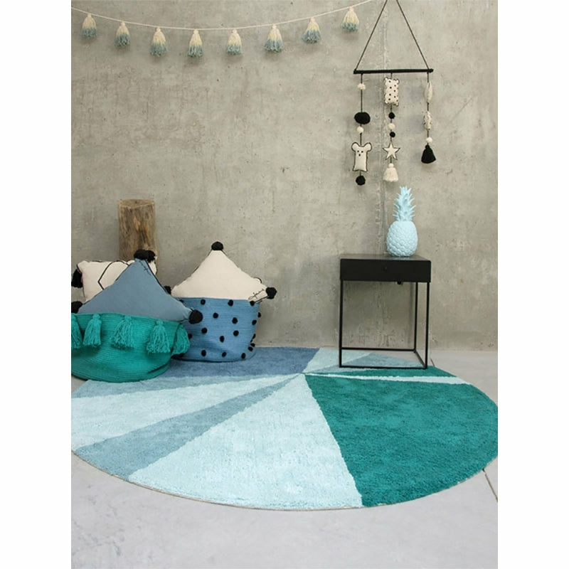 Lorena Canals Pom Pom Garland in Vintage Blue IN ROOM
