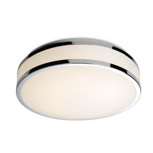 Wey White Led Flush Ceiling Fitting With Chrome Trim - ID 2660