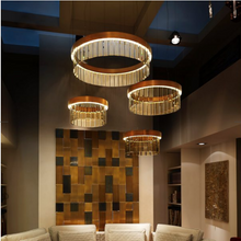 76cm Circular Chandelier In Brushed Bronze With Satin Crystal Glass - ID 8015