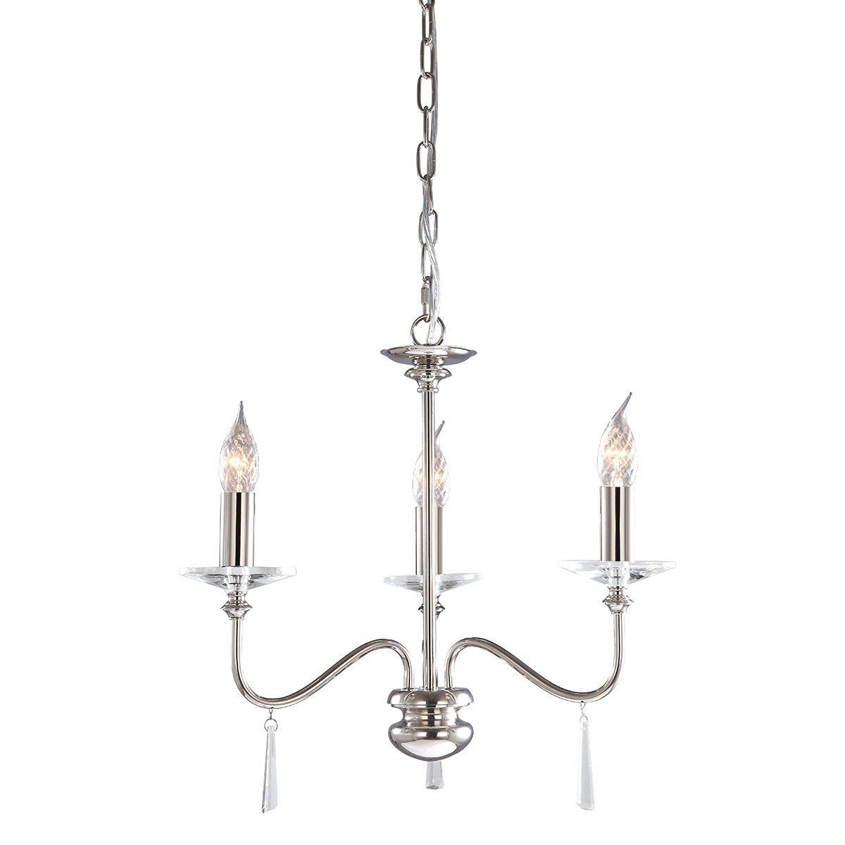 Finsbury Park 3 Arm Chandelier - London Lighting - 1
