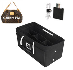 LV GALLIERA PM Organizer GIFTS INCLUDED : Cable Holders+Lipstick Holders / Mini Wallet[Charcoal Black]