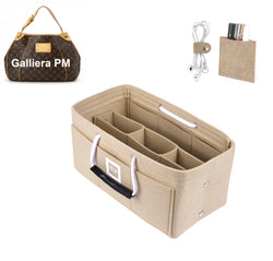 LV GALLIERA PM Organizer GIFTS INCLUDED : Cable Holders+Lipstick Holders / Mini Wallet[Maldives Sand]