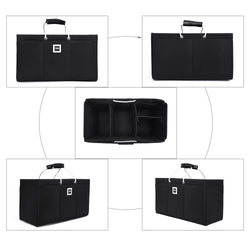 Keepall 50 Organizer GIFTS INCLUDED : 2Cable Holders+2 Lipstick Holders / Mini Wallet [Charcoal Black]
