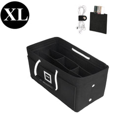 Charcoal Black XLarge GIFTS INCLUDED : Cable Holders+Lipstick Holders / Mini Wallet[33x16x16cm]