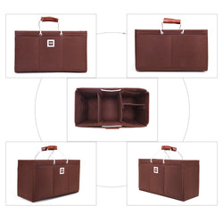 Keepall 45 Organizer GIFTS INCLUDED : 2Cable Holders+2 Lipstick Holders / Mini Wallet [Chocolate Brown]