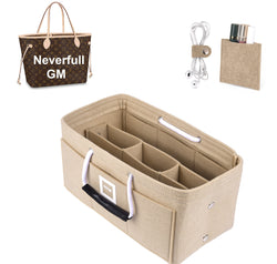 LV NEVERFULL GM Organizer GIFTS INCLUDED : Cable Holders+Lipstick Holders / Mini Wallet[Maldives Sand]
