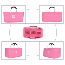 CHANEL Grand Shopping Tote Organizer [Bubblegum Pink]