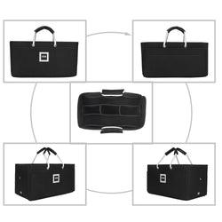Hermès Birkin 25 Organizer GIFTS INCLUDED : Cable Holders+Lipstick Holders / Mini Wallet[Charcoal Black]