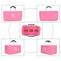 LV STRESA PM Organizer GIFTS INCLUDED : 2Cable Holders+2 Lipstick Holders / Mini Wallet [Bubblegum Pink]