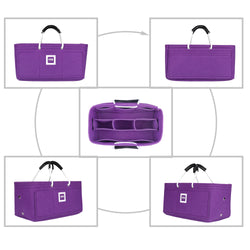 LV STRESA PM Organizer GIFTS INCLUDED : 2Cable Holders+2 Lipstick Holders / Mini Wallet [Violet Orchid]