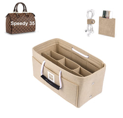 LV SPEEDY 35 Organizer GIFTS INCLUDED : Cable Holders+Lipstick Holders / Mini Wallet[Maldives Sand]